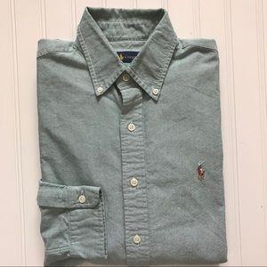 POLO Ralph Lauren Long Sleeve Button Down Shirt! M